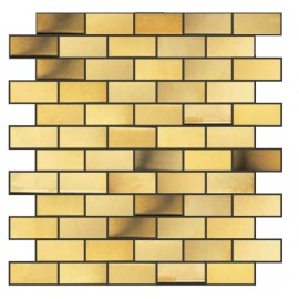 (OHSS-M-BG) Gold Stainless Steel Mosaic Brick