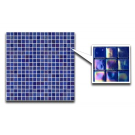 Sea Blue Glass Mosaic