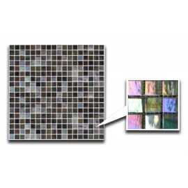 Mixed Blue/Green & Grey Glass Mosaic