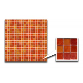 Orange/Red Glass Mosaic
