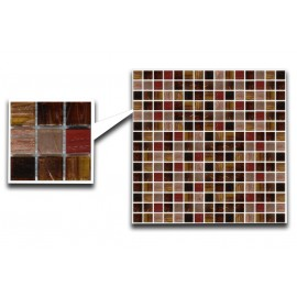 Mixed Brown & Red Glass Mosaic