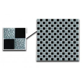 Crystal Glass Mosaic With Black Inserts