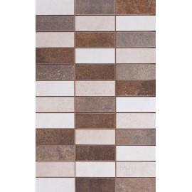 Sal Mosaico Oxy Marron 25x40