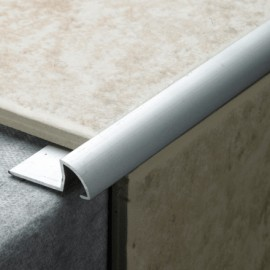 Tile Trim Silver Aluminium 8mm Cwmbran