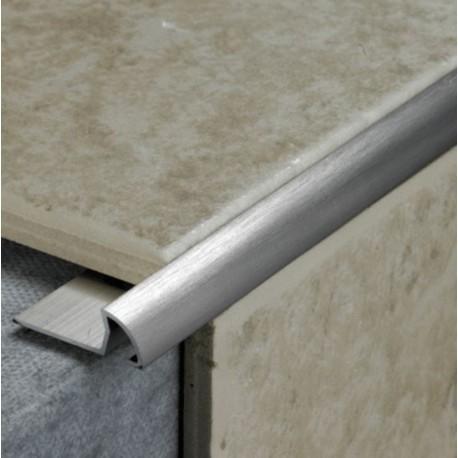 Tile Rite Stainless Steel Effect Metal Tile Edge 8mm