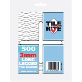3mm Long Leg Tile Spacer Bag of 500