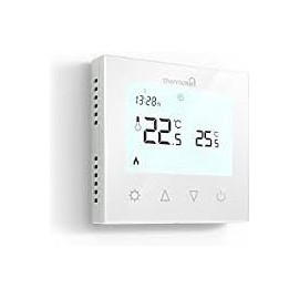 Thermotouch 7.6ig Programmable Thermostat White Glass