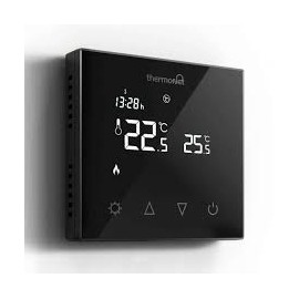 Thermotouch 7.6ig Programmable Thermostat Black Glass