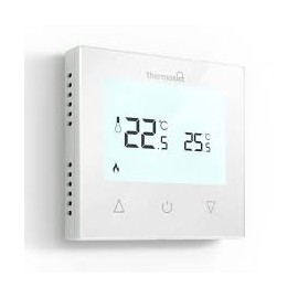 Thermotouch 9.2mG Manual Thermostat White Glass
