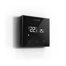 Thermotouch 9.2mG Manual Thermostat Black Glass