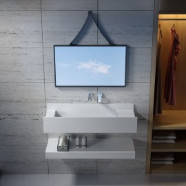 Stone Wall - mounted basin