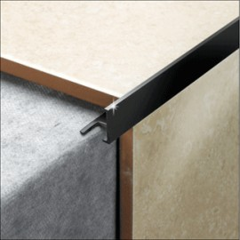 8 mm Black L Shape PVC Tile Trim