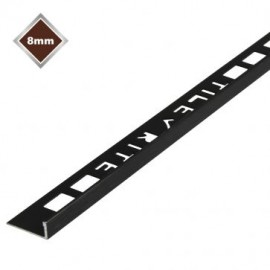 8mm Black Metal Trim L Shape