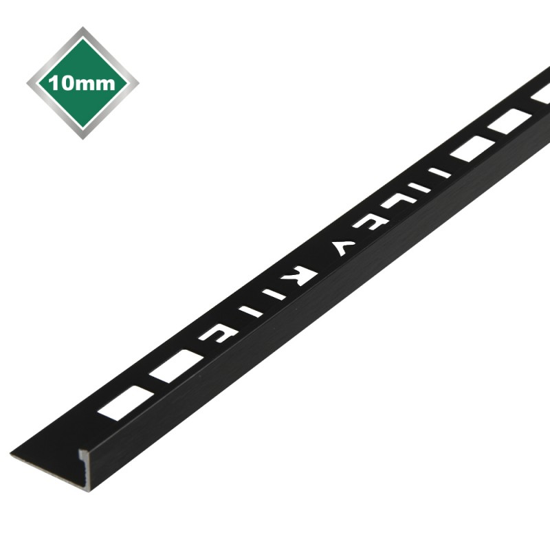 10mm Black Brushed Metal Trim L Shape Laporsa