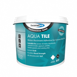 BOND IT AQUA-TILE WATER-RESISTANT WALL TILE ADHESIVE - 15KG TUB