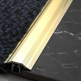 864mm Short Carpet to Tile Trim Gold