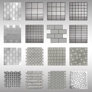 Brushed Stainless Steel Mosaics